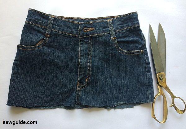 jeans skirt tutorial