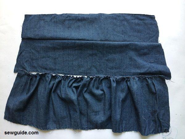 jean skirt tiered skirt