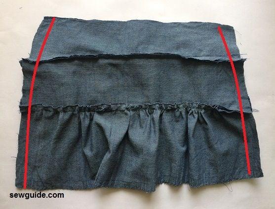 jean skirt tiered