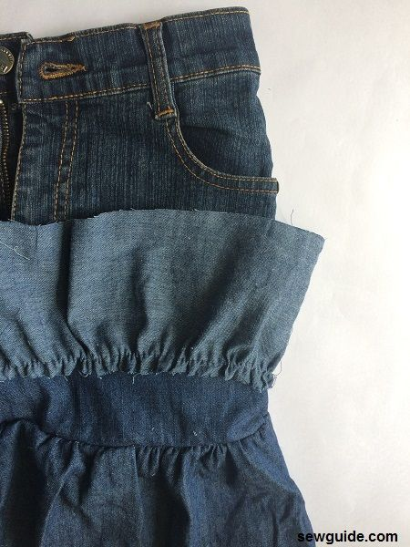 how to stitch a skirt from an old jeans