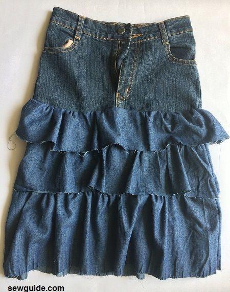jean skirt diy