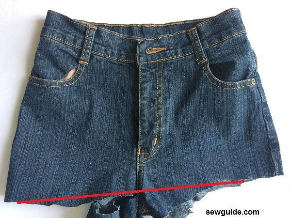 how to make a skirt from an old jeans