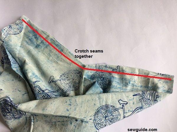samurai yoga wrap pants pattern