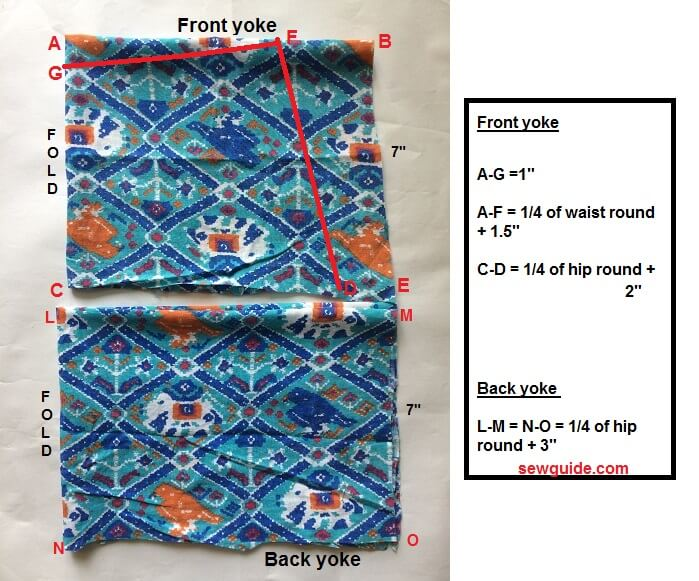 how to sew a straight skirt with yoke
