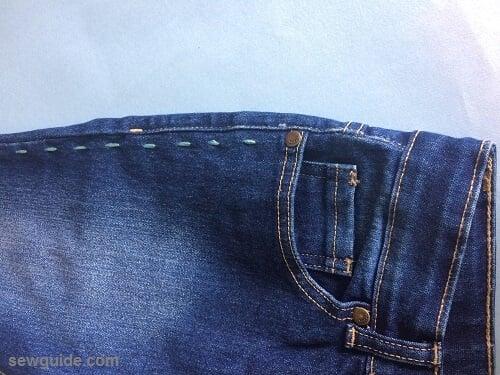 embellish old jeans diy