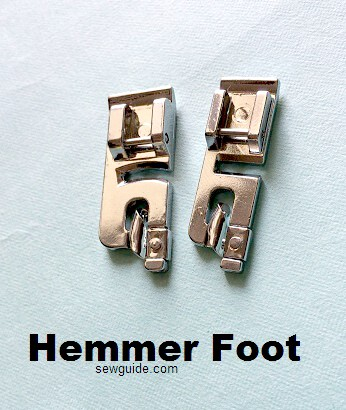 how to use a hemmer foot
