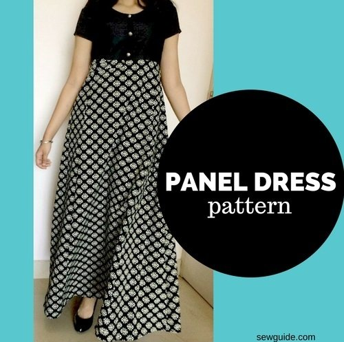 panel dress sewing pattern