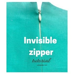 sew invisible zipper