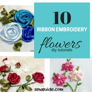 tibbon embroidery flowers