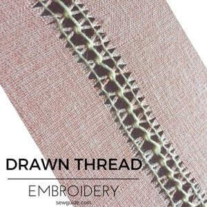 drawn thread embroidery