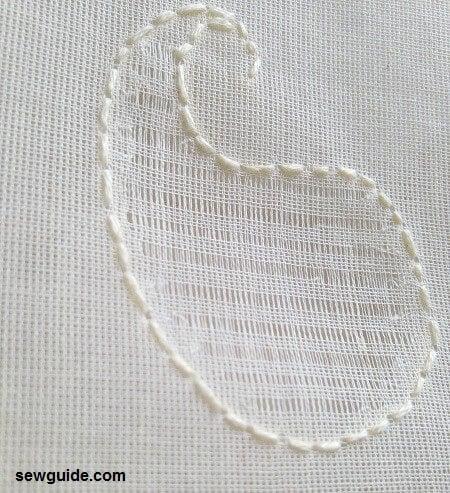 drawn thread embrroidery