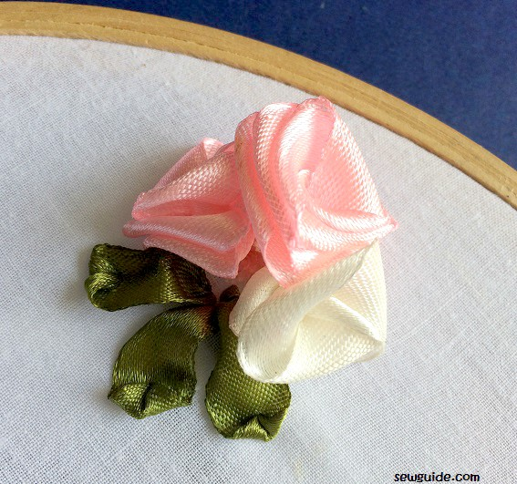 folded ribbon flowers