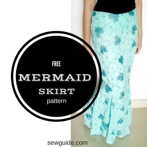 mermaid skirt pattern