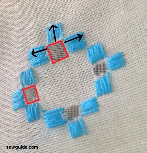 Hardanger embroidery