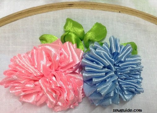 ribbon flowers diy tutorial