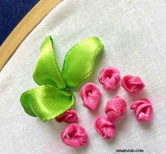 ribbon embroidery rose tutorial