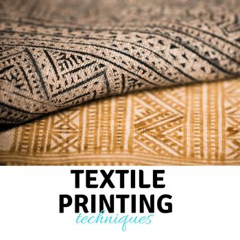textile printing techniques