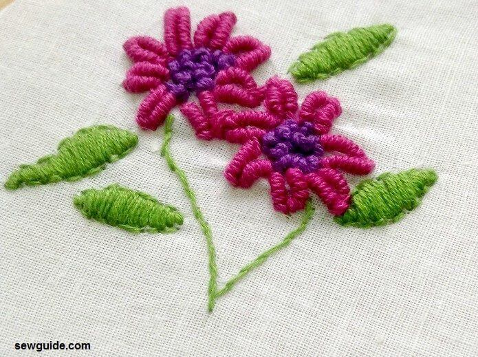 bullion knot stitch designs