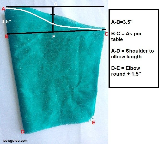 sleeve pattern frilled sleeves