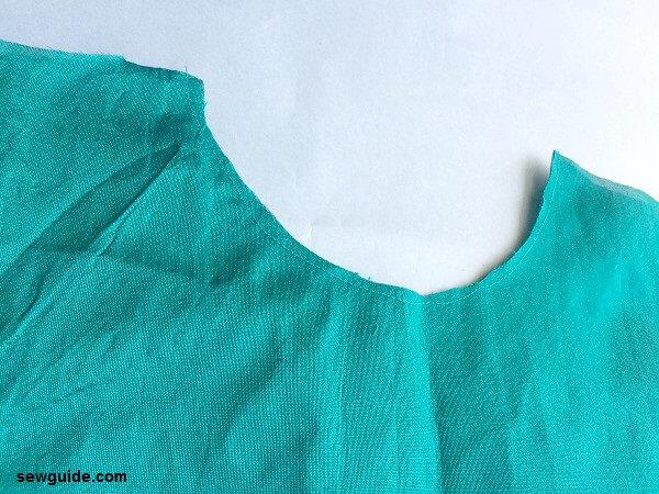 flute sleeves top pattern