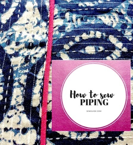 make and sew cord piping