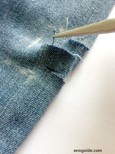 ripped knee jeans diy