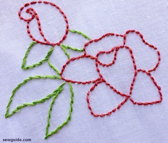 how to stitch a rose