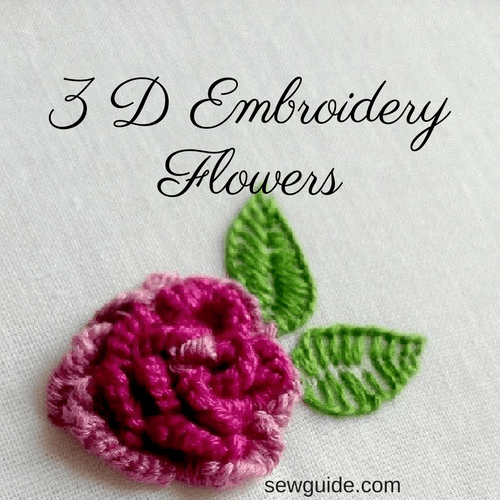 3d flower embroidery