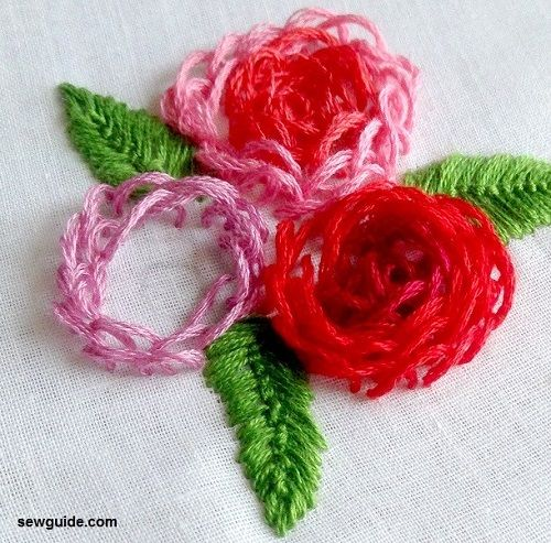We embroider a rose .. Photo №1