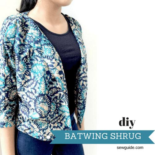 batwing shrug pattern