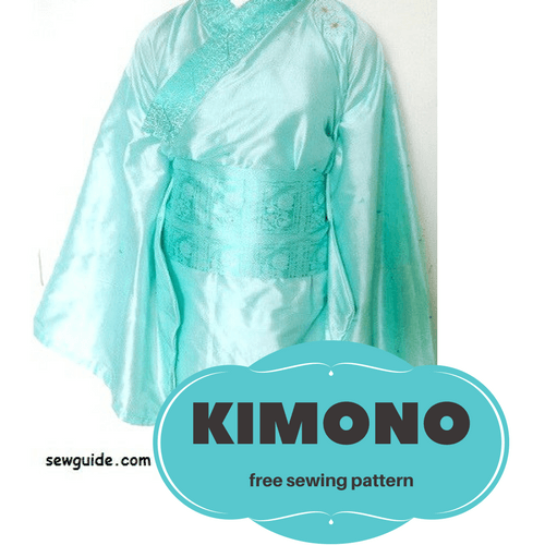 How To Make A Simple KIMONO DIY Sewing Pattern Tutorial Sew Guide Magnificent Kimono Sewing Pattern