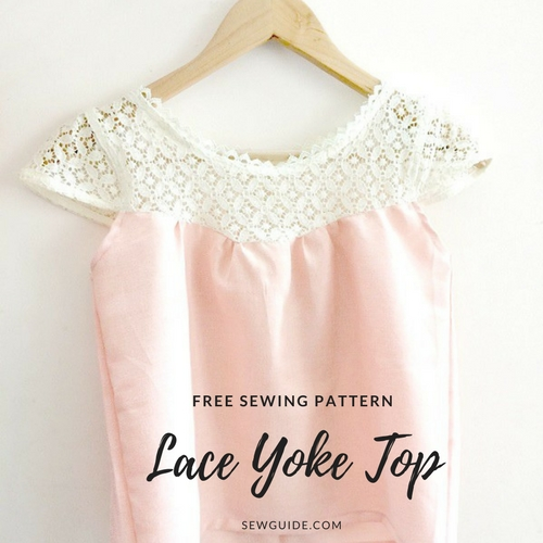 Lace yoke Blouse with cap sleeves - Free Sewing Pattern & tutorial ...