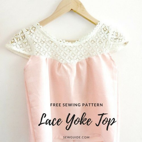 lace yoke top diy