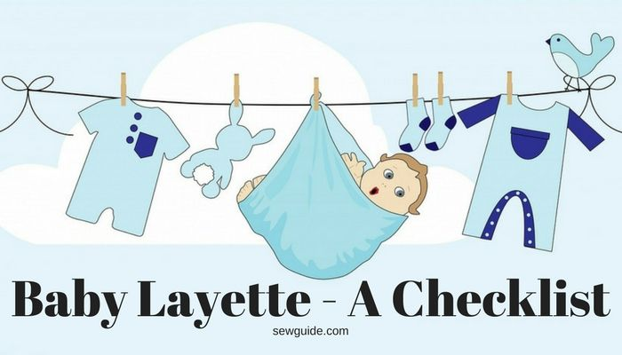 baby essentials in a layette