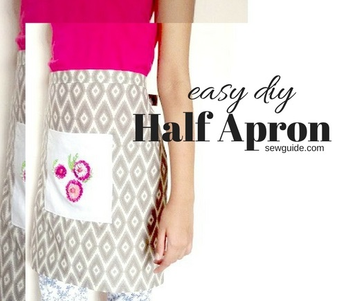 easy apron pattern to sew
