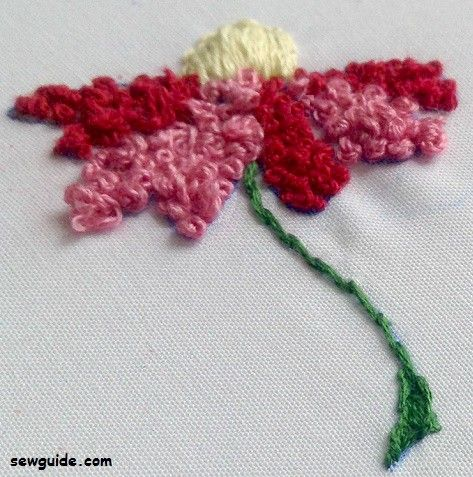 filling stitch french knot