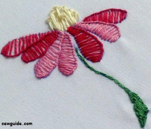 filling stitches buttonhole stitch