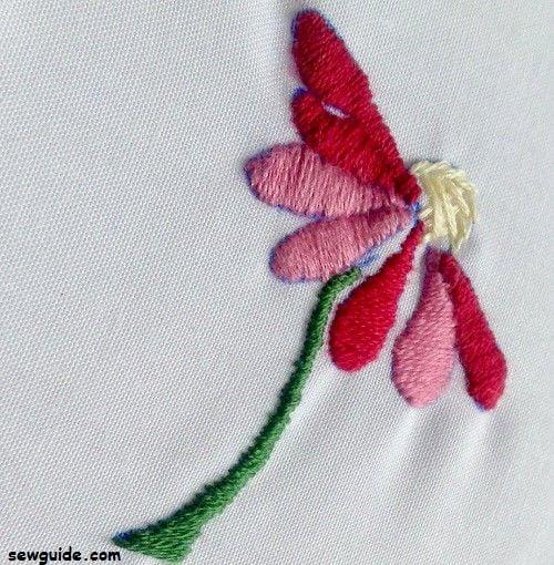 filling stitch satin stitch