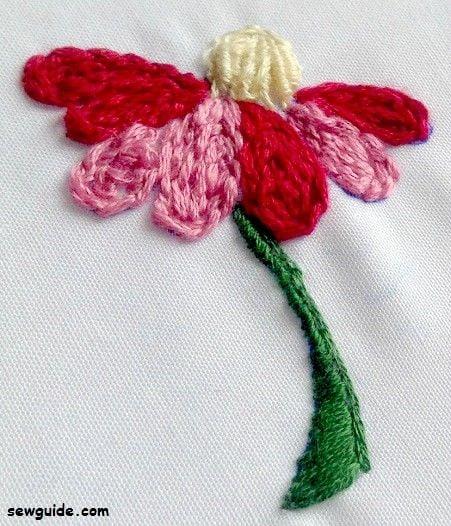 filling stitch chain stitch