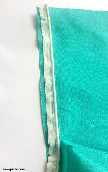 sew invisible zippers on clothes