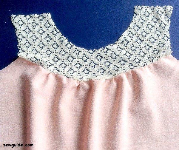lace yoke top sewing diy