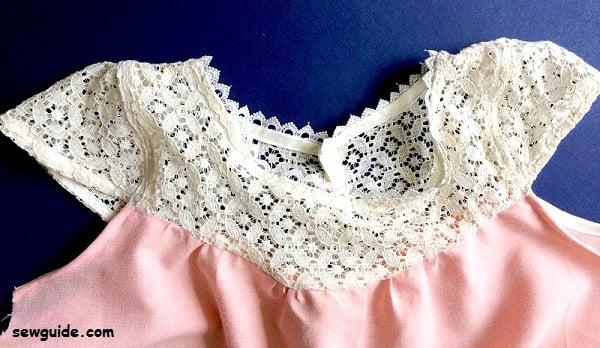lace yoke top sewing pattern