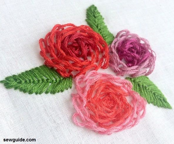Beautiful but easy to make d embroidery flowers sew