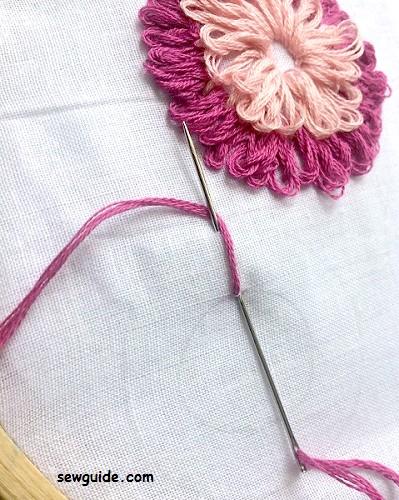 rosette chain stitch