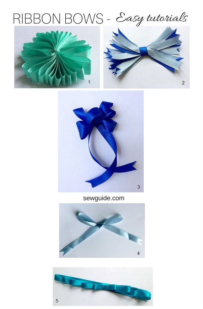 Make a bow with ribbon