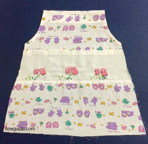baby girl dress stitching