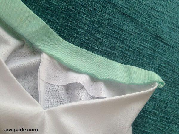 collar chinese cutting and stitching