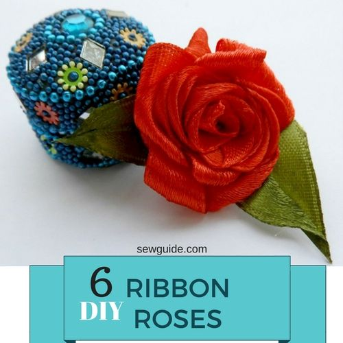 diy - ribbon rose making