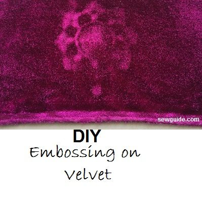 Embossing on Fabric - Easy way to do it at home
