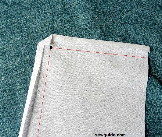 mitered corner sewing diy